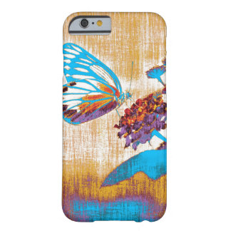 Vintage Beautiful Butterfly on Flower Barely There iPhone 6 Case