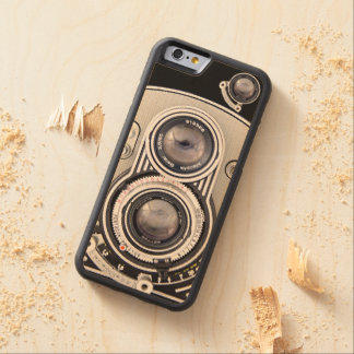 Vintage beautiful camera carved® maple iPhone 6 bumper case