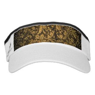 Vintage, beautiful damask headsweats visor
