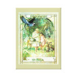 Vintage Beautiful Day Garden Stretched Canvas Print