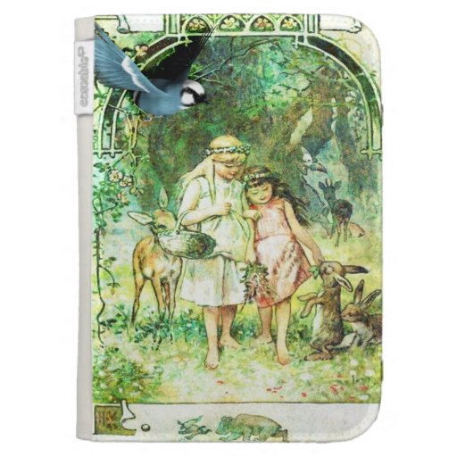 Vintage Beautiful Day Garden Kindle Keyboard Cases
