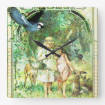 Vintage Beautiful Day Garden Square Wall Clocks