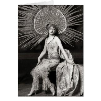 Vintage Beautiful Decorated Dancer Card