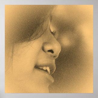 Vintage Beautiful Girl #2 Poster