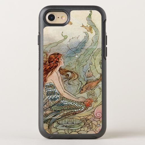 Vintage Beautiful Girly Mermaid Under The Sea OtterBox Symmetry iPhone 8/7 Case