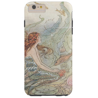 Vintage Beautiful Girly Mermaid Under The Sea Tough iPhone 6 Plus Case