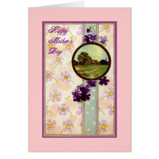 Vintage Beautiful Mother's Day Card
