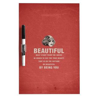 Vintage Beautiful Must Start Grunge Dry-Erase Board