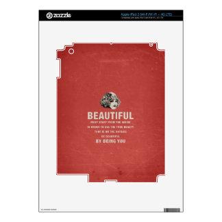 Vintage Beautiful Must Start Grunge iPad 3 Decal