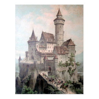 Vintage - Beautiful Old Castle Postcard