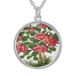 Vintage, Beautiful Pink Flowers Custom Necklace