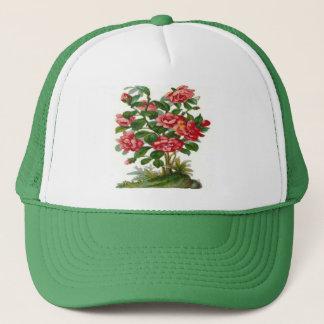 Vintage, Beautiful Pink Flowers Trucker Hat