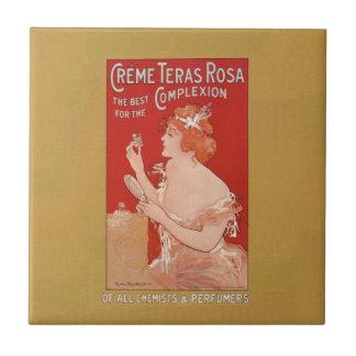 Vintage Beauty Advertisement Tile