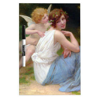 Vintage Beauty and Cupid Painting Dry Erase Board