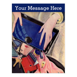 Vintage Beauty and Fashion Accessories Postcard