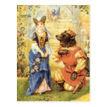 Vintage Beauty and the Beast Fairy Tale Postcards