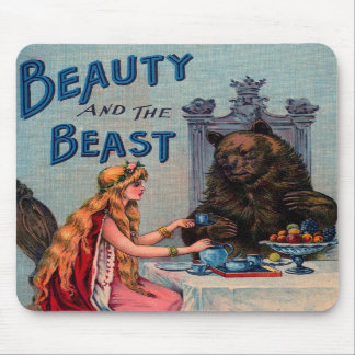 Vintage Beauty and the Beast Mousepad