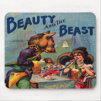 Vintage Beauty and the Beast Mousepads