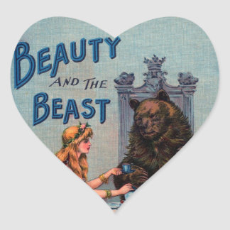 Vintage Beauty and the Beast Sticker