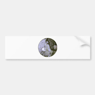 Vintage Beauty Bumper Sticker