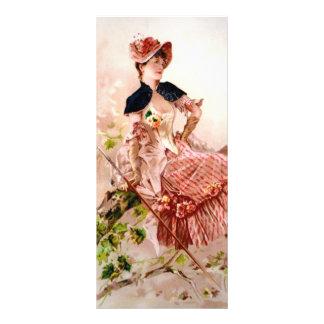 Vintage Beauty Customized Rack Card