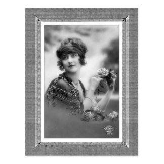 Vintage Beauty - Flower Girl - in black & white Post Cards