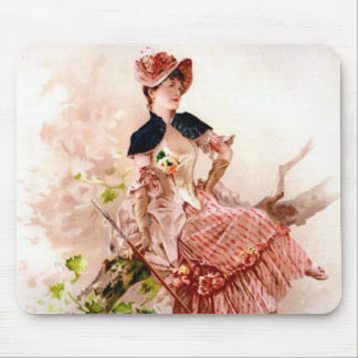 Vintage Beauty Mouse Pad