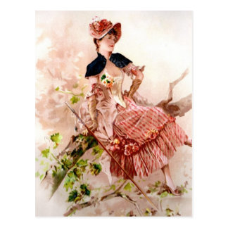 Vintage Beauty Postcard