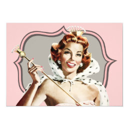 Vintage Beauty Queen Birthday Card