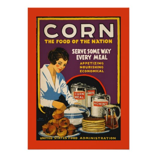 Vintage Beauty U S Food Administration CORN POSTER