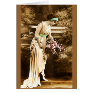 Vintage Beauty VII Greeting Cards