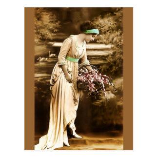 Vintage Beauty VII Post Card