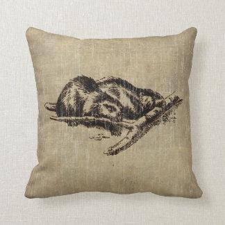 Vintage Beaver Pillow