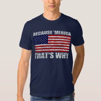 Vintage BECAUSE 'MERICA THAT'S WHY Shirt