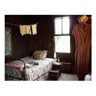 Vintage Bedroom Postcard