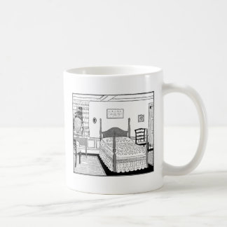 Vintage Bedroom Scene Coffee Mug