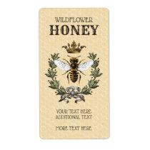 Vintage Bee and Crown Honey Jar Label
