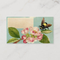 Vintage Bee and Flower Calling Card