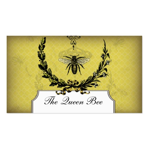 Vintage bee apiary business card honeycomb beeswax zazzle for Bee business cards