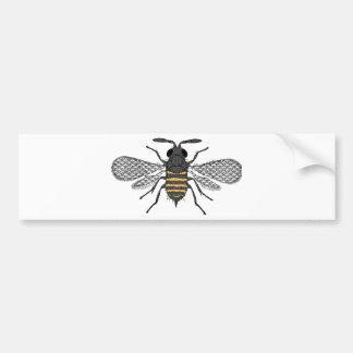 vintage bee bumper sticker
