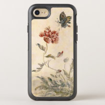 Vintage Bee, Butterfly and Poppy Watercolor OtterBox Symmetry iPhone 8/7 Case