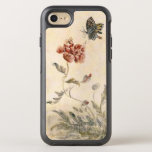 "Vintage Bee, Butterfly and Poppy Watercolor OtterBox Symmetry iPhone 8/7 Case<br><div class=""desc"">Bee, Butterfly and Poppy by a Korean Painter, Shim Sa-jeong (1707-1769) 18th century. Ink on paper. Sim Sa-jeong (1707 ~ 1769), was a representative painter in the literary artist&#39;s style along with Jeong Seon in 18th Joseon period. He learned to paint from Jeong Seon, so was influenced by his teacher....</div>"