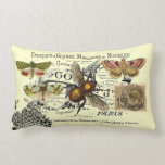 Vintage Bee Collage Throw Pillow