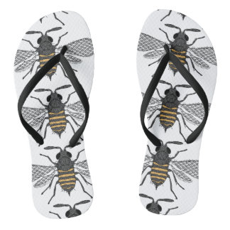 vintage bee flip flops shoes sandals