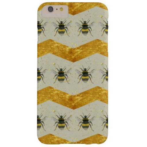 Vintage Bee & Gold Chevron iPhone 6 Plus Case