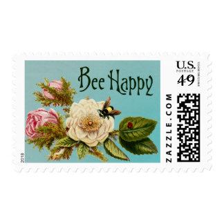 Vintage Bee Happy Stamp 4