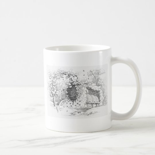 Vintage Bee Hives Coffee Mug