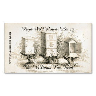 Vintage Bee Hives Custom Business Magnet