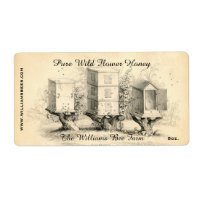 Vintage Bee Hives Honey Jar Label Shipping Label