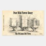 Vintage Bee Hives Honey Jar Stickers